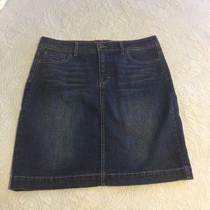 Style & Co Stretch Denim Skirt Sz 12 Embellished